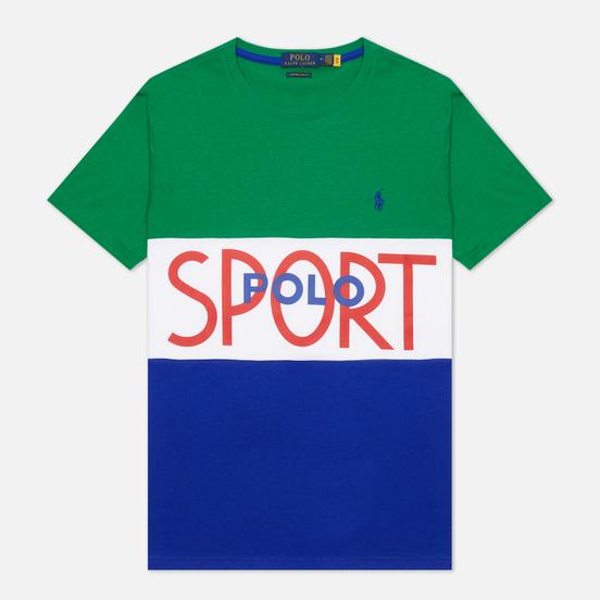 Мужская футболка Polo Ralph Lauren Polo Sport Custom Slim Fit Kayak Green