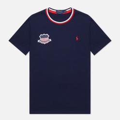 Мужская футболка Polo Ralph Lauren The USA Crew Neck Cruise Navy