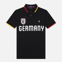 Мужское поло Polo Ralph Lauren The Germany Custom Slim Fit Black