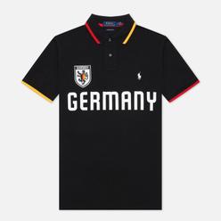 Мужское поло Polo Ralph Lauren The Germany Custom Slim Fit Black