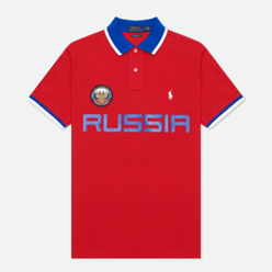 Мужское поло Polo Ralph Lauren The Russia Custom Slim Fit Red