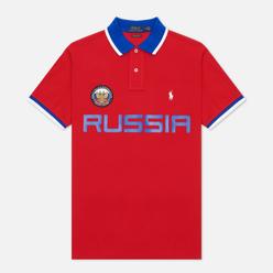 Мужское поло Polo Ralph Lauren The Russia Custom Slim Fit Red