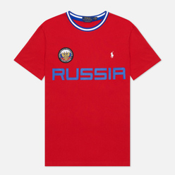 Мужская футболка Polo Ralph Lauren The Russia Crew Neck Red