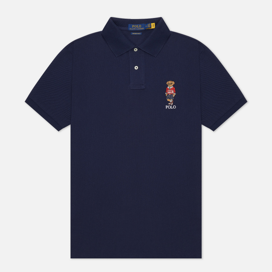 Мужское поло Polo Ralph Lauren Polo Sport Bear Basic Mesh Cruise Navy