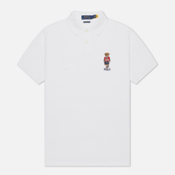 Мужское поло Polo Ralph Lauren Polo Sport Bear Basic Mesh White