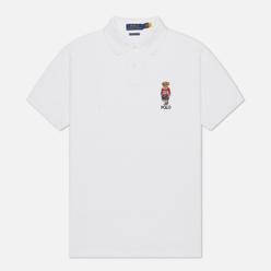 Мужское поло Polo Ralph Lauren Polo Sport Bear Basic Mesh White
