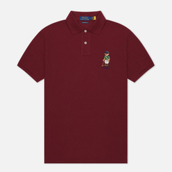 Мужское поло Polo Ralph Lauren Riding Bear Basic Mesh Classic Wine