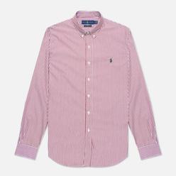 Мужская рубашка Polo Ralph Lauren Slim Fit Striped Natural Poplin Wine/White