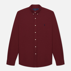 Мужская рубашка Polo Ralph Lauren Slim Fit Garment Dyed Oxford Classic Wine