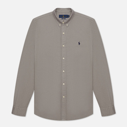 Мужская рубашка Polo Ralph Lauren Slim Fit Garment Dyed Oxford Perfect Grey