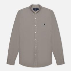Мужская рубашка Polo Ralph Lauren Slim Fit Garment Dyed Oxford Perfect Grey