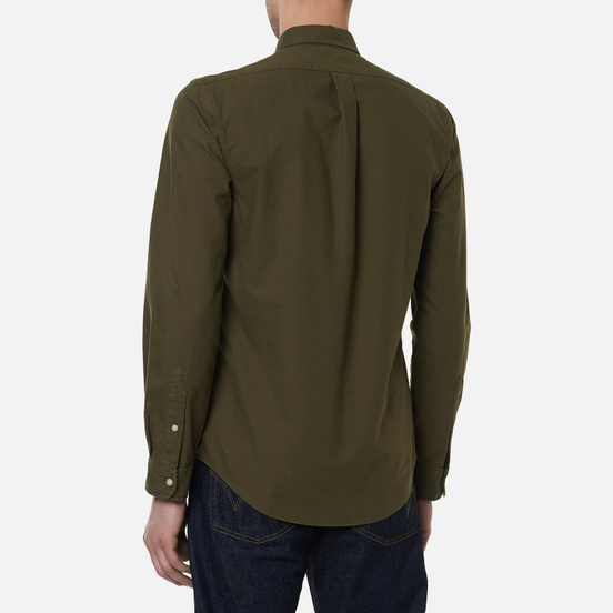 Мужская рубашка Polo Ralph Lauren Slim Fit Garment Dyed Oxford Defender Green