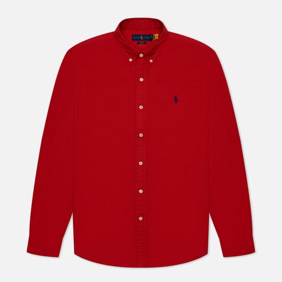 Мужская рубашка Polo Ralph Lauren Slim Fit Garment Dyed Oxford Red