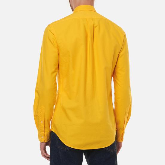 Мужская рубашка Polo Ralph Lauren Slim Fit Garment Dyed Oxford Canary Yellow