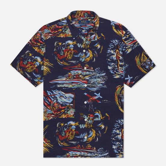 Мужская рубашка Polo Ralph Lauren Surf Pint Vacation Navy/Double O-67