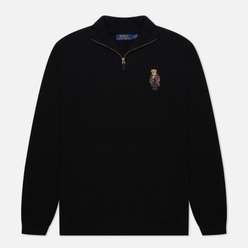 Мужской свитер Polo Ralph Lauren Half-Zip Embroidered Bear Black