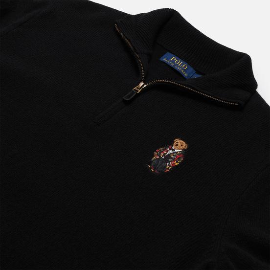 Мужской свитер Polo Ralph Lauren Half-Zip Embroidered Bear Black