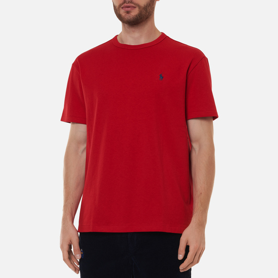 Мужская футболка Polo Ralph Lauren Logo Polo Pony Heavyweight Jersey Red/Navy