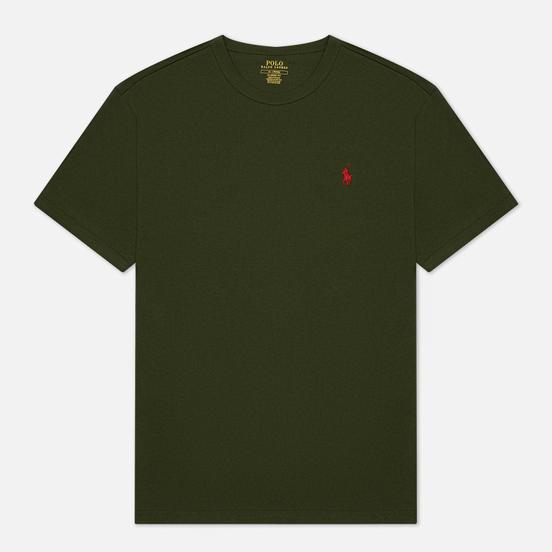 Мужская футболка Polo Ralph Lauren Logo Polo Pony Heavyweight Jersey Army/Red