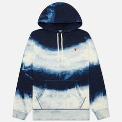 Мужская толстовка Polo Ralph Lauren Garment Dyed Seasonal Fleece Dark Indigo Cloud Wash