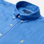 Мужская рубашка Polo Ralph Lauren Slim Fit Piece Dye Linen Harbour Island Blue фото - 1