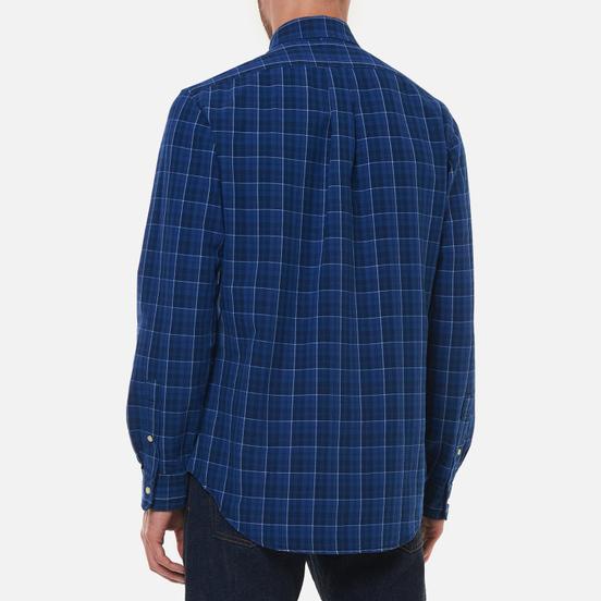 Мужская рубашка Polo Ralph Lauren Classic Oxford Custom Fit Indigo/Blue Multi