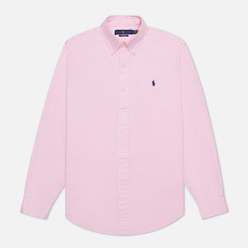 Мужская рубашка Polo Ralph Lauren Custom Fit Washed Pinpoint Oxford Pink/White