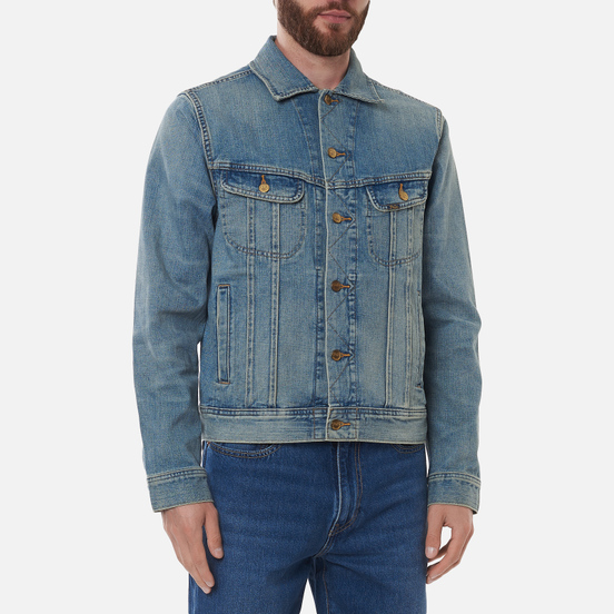 Мужская джинсовая куртка Polo Ralph Lauren Storm Rider Trucker Denim Chevy