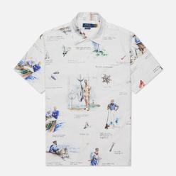 Мужская рубашка Polo Ralph Lauren Classic Fit Print Oxford Camp Apparel Arts Sports
