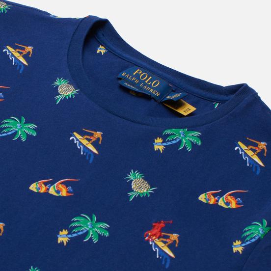 Мужская футболка Polo Ralph Lauren Tropical Surfer Custom Slim Fit Fall Royal