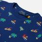 Мужская футболка Polo Ralph Lauren Tropical Surfer Custom Slim Fit Fall Royal фото - 1