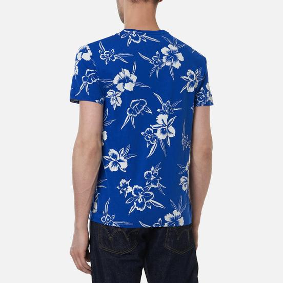 Мужская футболка Polo Ralph Lauren Floral Print Crew Neck Sapphire Star Pacific Hibiscus