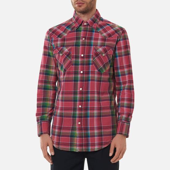 Мужская рубашка Polo Ralph Lauren Classic Fit Madras Western Pink/Blue