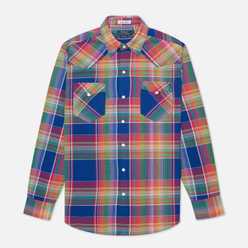 Мужская рубашка Polo Ralph Lauren Classic Fit Madras Western Blue/Green