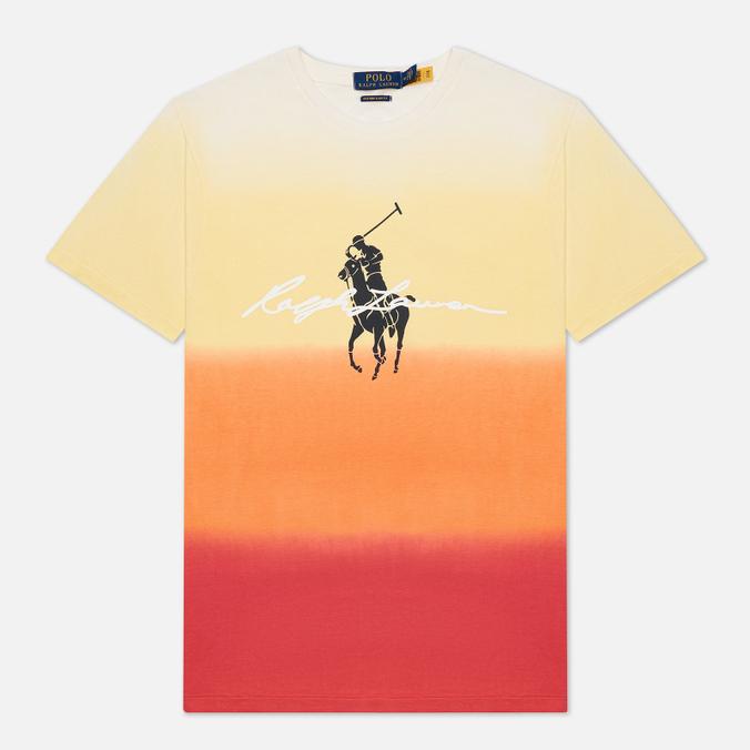Мужская футболка Polo Ralph Lauren Custom Slim Fit Dip-Dyed Graphic