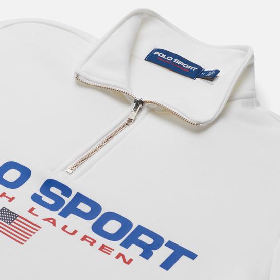 Мужская толстовка Polo Ralph Lauren Polo Sport Fleece Half-Zip White