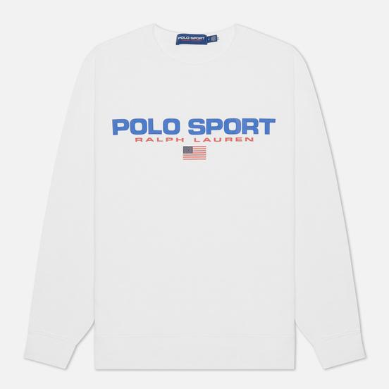 Мужская толстовка Polo Ralph Lauren Polo Sport Fleece Crew Neck White