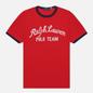 Мужская футболка Polo Ralph Lauren Classic Fit Embroidered Mesh Red фото - 0