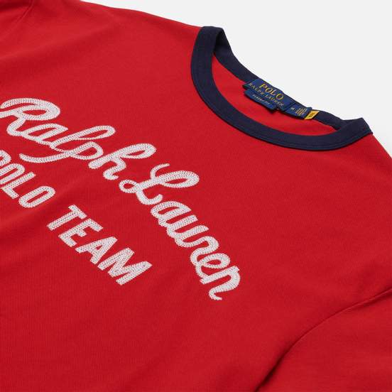 Мужская футболка Polo Ralph Lauren Classic Fit Embroidered Mesh Red