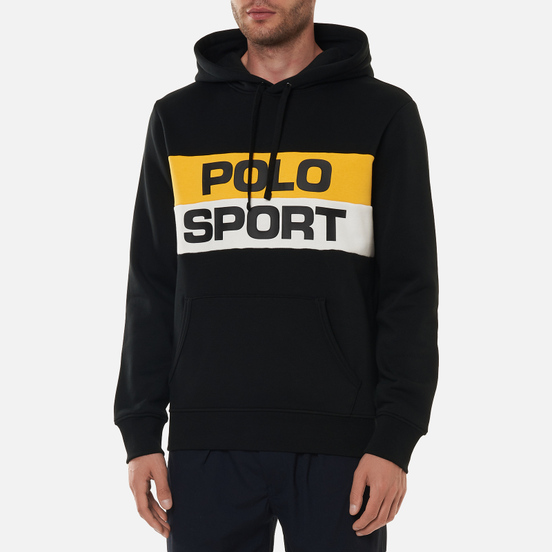 Мужская толстовка Polo Ralph Lauren Polo Sport Colour-Blocked Fleece Hoodie Polo Black/Multi