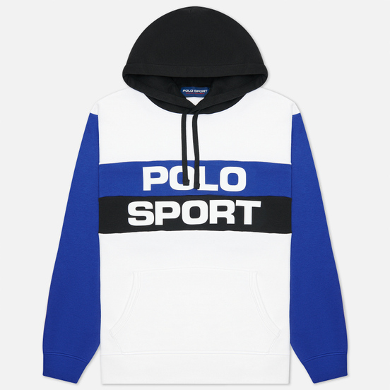 Мужская толстовка Polo Ralph Lauren Polo Sport Colour-Blocked Fleece Hoodie White/Multi