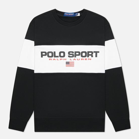 Мужская толстовка Polo Ralph Lauren Polo Sport Colour-Blocked Fleece Crew Neck Polo Black