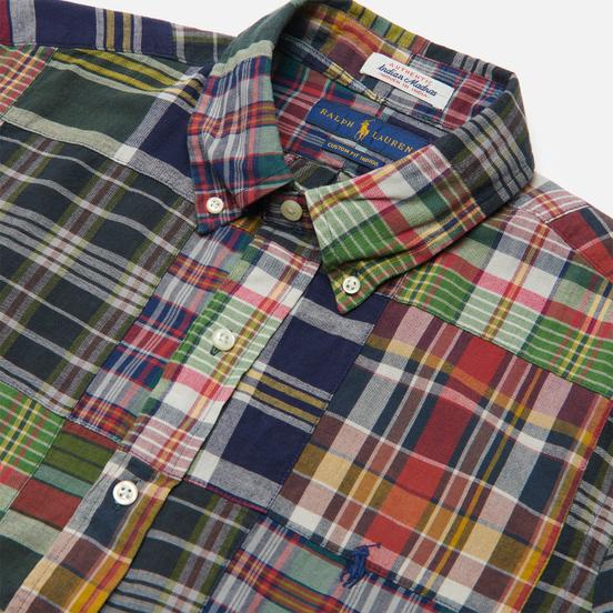 Мужская рубашка Polo Ralph Lauren Custom Fit Patchwork Madras Dark Patchwork