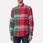 Мужская рубашка Polo Ralph Lauren Linen Plaid Custom Fit Red/Green Multi фото - 2