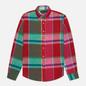 Мужская рубашка Polo Ralph Lauren Linen Plaid Custom Fit Red/Green Multi фото - 0