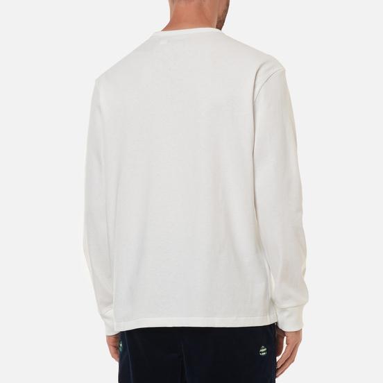 Мужской лонгслив Polo Ralph Lauren Classic Fit Embroidered Polo Pony White/Navy