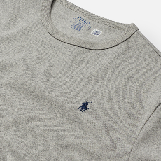 Мужской лонгслив Polo Ralph Lauren Classic Fit Embroidered Polo Pony Andover Heather/Navy