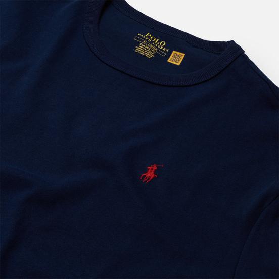 Мужской лонгслив Polo Ralph Lauren Classic Fit Embroidered Polo Pony Newport Navy/Red