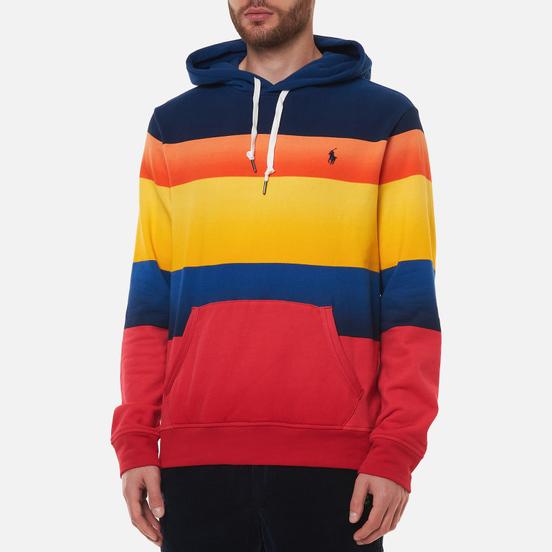 Мужская толстовка Polo Ralph Lauren Striped Fleece Hoodie Active Royal Multi