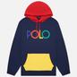 Мужская толстовка Polo Ralph Lauren Multicolor Polo Logo Hoodie Newport Navy фото - 0